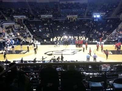 Mackey Arena, section: 101, row: 2, seat: 1
