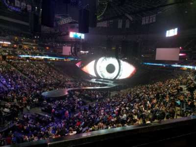 Pepsi Center, section: 208, row: 1, seat: 13
