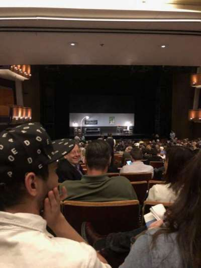 Ahmanson Theatre, section: Orch, row: X, seat: 43