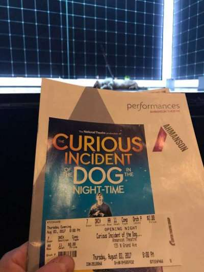 Ahmanson Theatre, section: Orch, row: AA, seat: 11