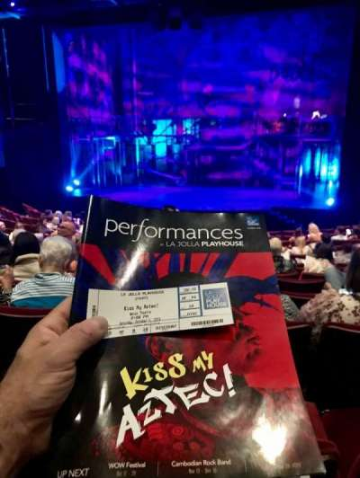 La Jolla Playhouse, section: Orch, row: N, seat: 14