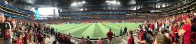 Mercedes-Benz Stadium, section: C128, row: 5, seat: 8