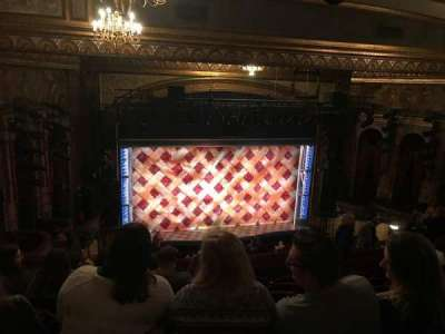 Brooks Atkinson Theatre, section: Mezzanine, row: L, seat: 126