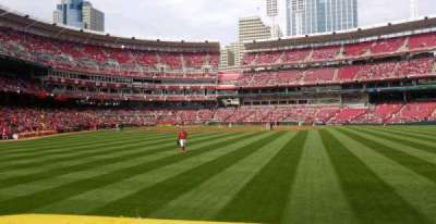 Great American Ball Park, section: 142, row: A, seat: 3