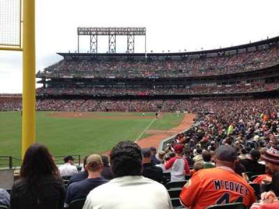 AT&T Park, section: 135, row: 21, seat: 16