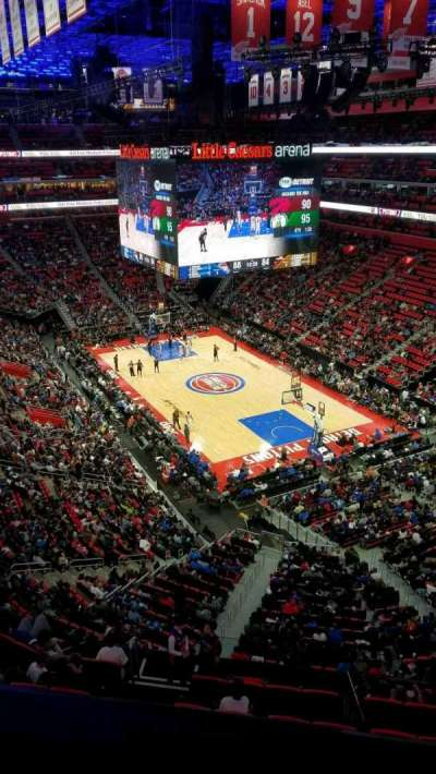 Little Caesars Arena, section: 222, row: 1, seat: 1