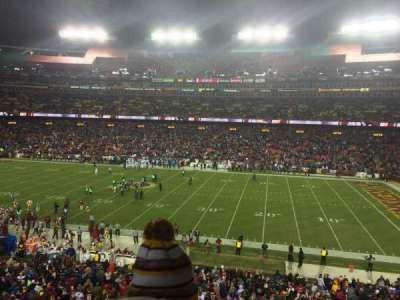 FedEx Field, section: 240, row: 2, seat: 18