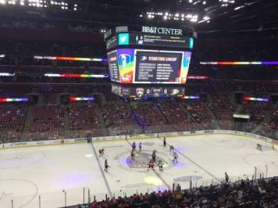 BB&T Center, section: C02, row: 1, seat: 13