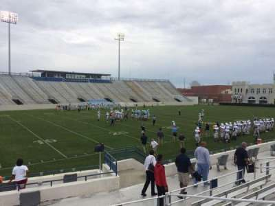 Johnson Hagood Stadium, section: L, row: 10, seat: 5