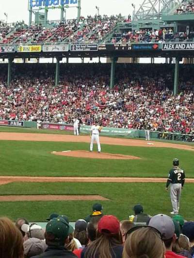 Fenway Park, section: Field Box 64, row: bb, seat: 1