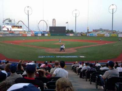 MCU Park, section: 1, row: P, seat: 1
