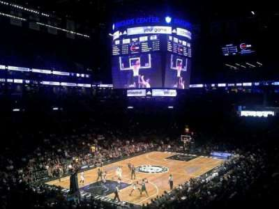 Barclays Center, section: 114, row: 8, seat: 1