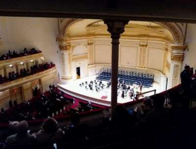 Carnegie Hall, section: Dress Circle Rear Side, row: FF, seat: 38