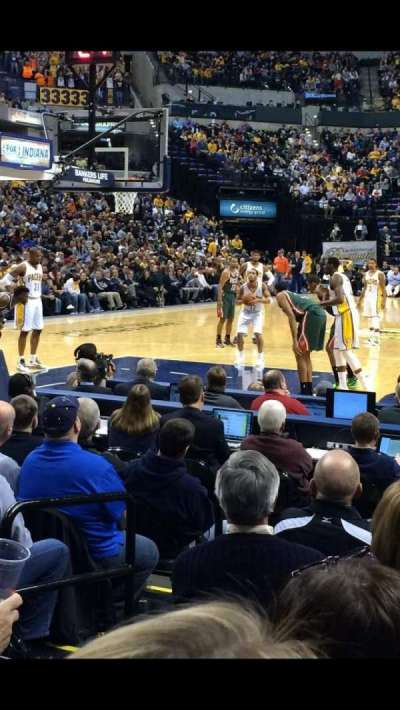 Bankers Life fieldhouse, section: 9, row: 9