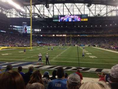 Ford Field, section: 117, row: 6, seat: 15