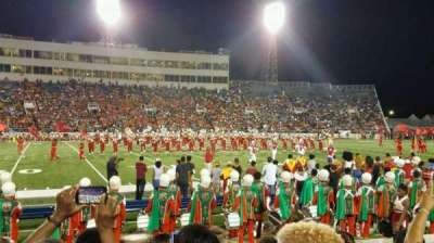 Ladd Peebles Stadium, section: R, row: 6, seat: 25