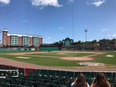 Northeast Delta Dental Stadium, section: 108, row: H, seat: 7