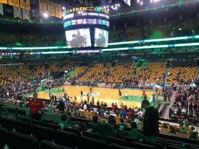 TD Garden, section: Club 137, row: E, seat: 6