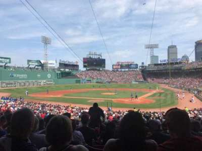 Fenway Park, section: Grandstand 23, row: 2, seat: 4