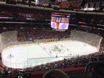 Wells Fargo Center, section: 210A, row: 9, seat: 16