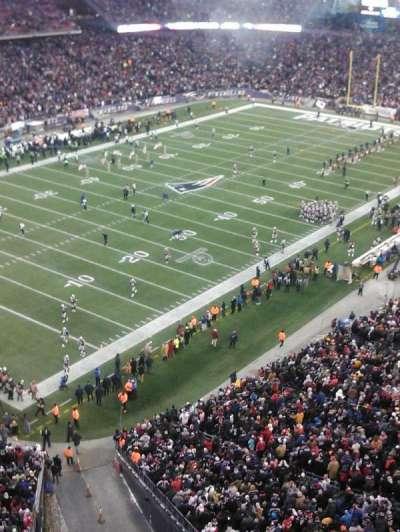 Gillette Stadium, section: 318, row: 2, seat: 12