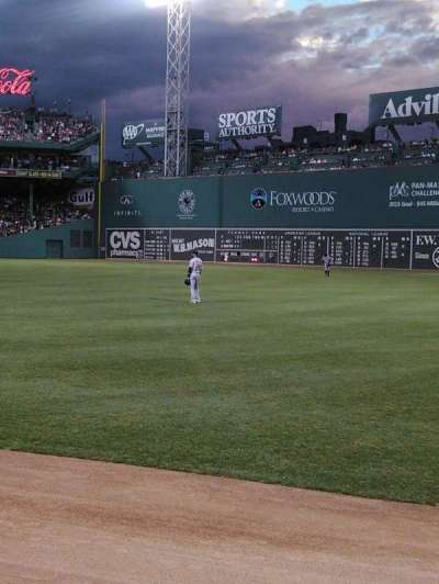 Fenway Park, section: Right Field Box 4, row: G, seat: 8