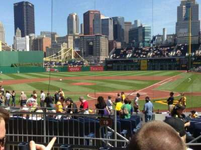 PNC Park, section: 119, row: D, seat: 4