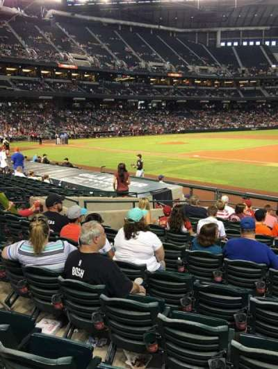 Chase Field, section: 114, row: 14, seat: 5