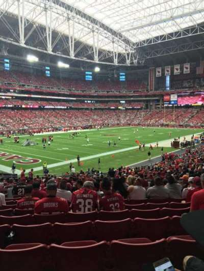 University of Phoenix Stadium, section: 136, row: 32, seat: 11