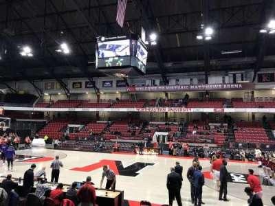 Matthews Arena, section: 22, row: F, seat: 6
