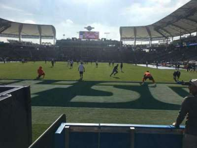 StubHub Center, section: 121, row: A, seat: 3