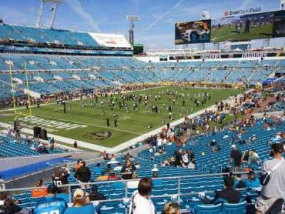 EverBank Field, section: 245, row: D, seat: 5