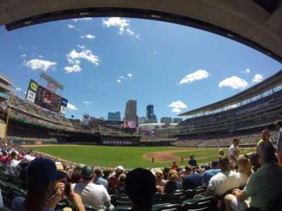 Target Field, section: 122, row: 18, seat: 5