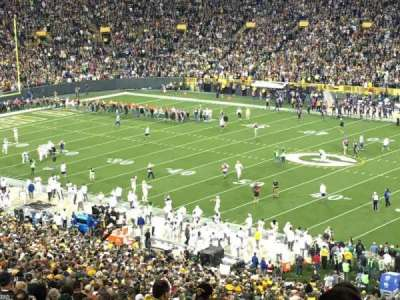 Lambeau Field, section: 336, row: 8, seat: 3