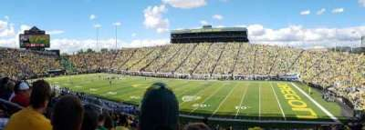 Autzen Stadium, section: 27, row: 36, seat: 21