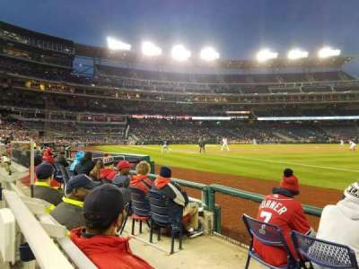 Nationals Park, section: 134, row: D