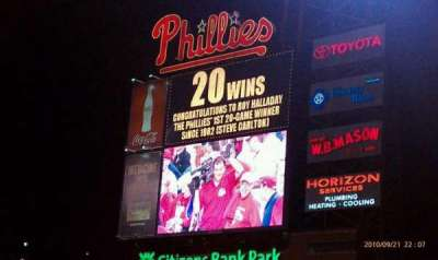 Citizens bank park  section 103