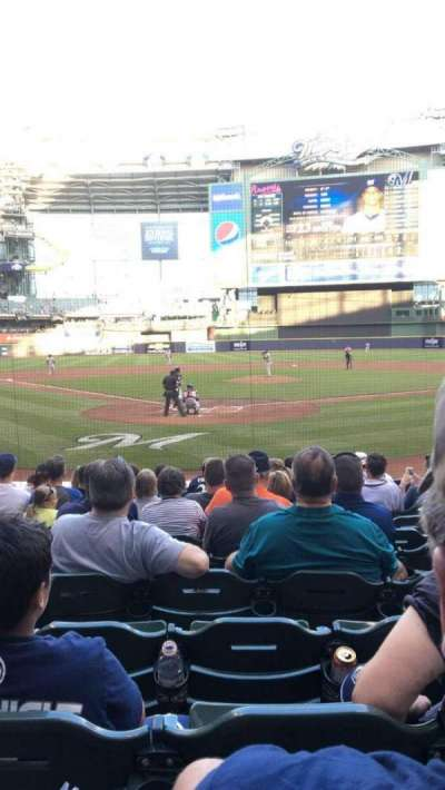 Miller Park, section: 117, row: 12, seat: 13