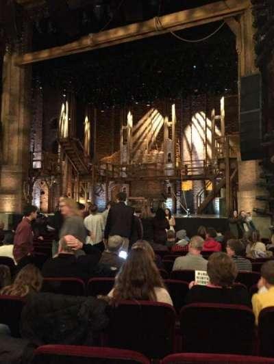 CIBC Theatre, section: Orchestra R, row: P, seat: 8