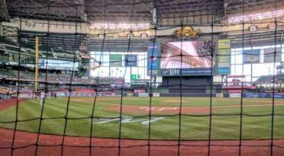 Miller Park, section: 117, row: 1, seat: 4