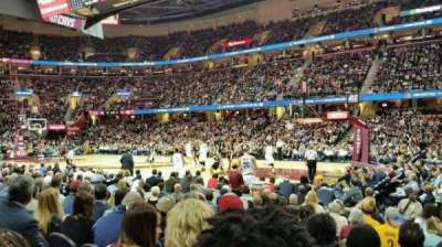 Quicken Loans Arena, section: 127, row: 8, seat: 18