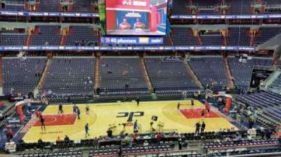 Verizon Center, section: 200, row: F, seat: 2