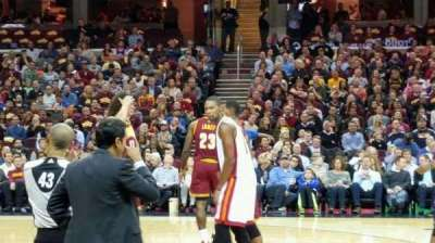 Quicken Loans Arena, section: 125, row: 5, seat: 7