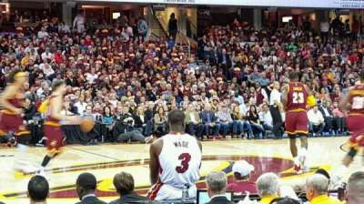 Quicken Loans Arena, section: 125, row: 5, seat: 8