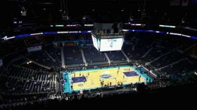 Spectrum Center, section: 210, row: Q, seat: 110