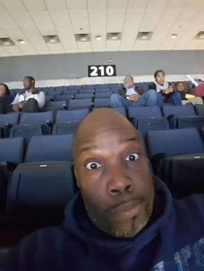 Spectrum Center, section: 210, row: Q, seat: 110