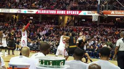 Quicken Loans Arena, section: 127 , row: 1, seat: 10