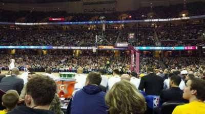 Quicken Loans Arena, section: 127 , row: 1, seat: 9