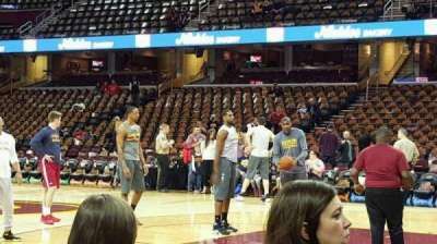 Quicken Loans Arena, section: 127, row: 1, seat: 10