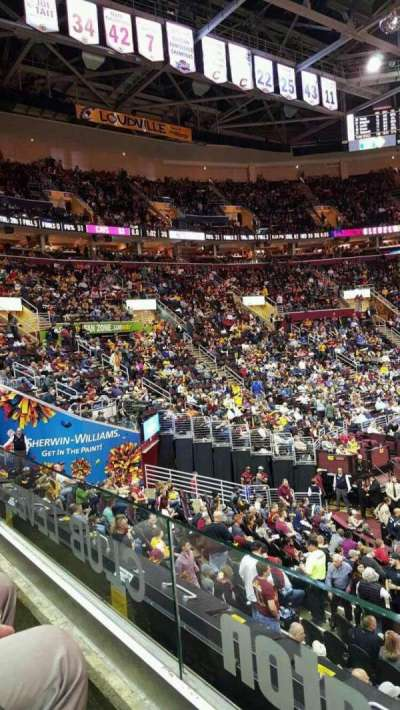 Quicken Loans Arena, section: C107 , row: 15, seat: 12